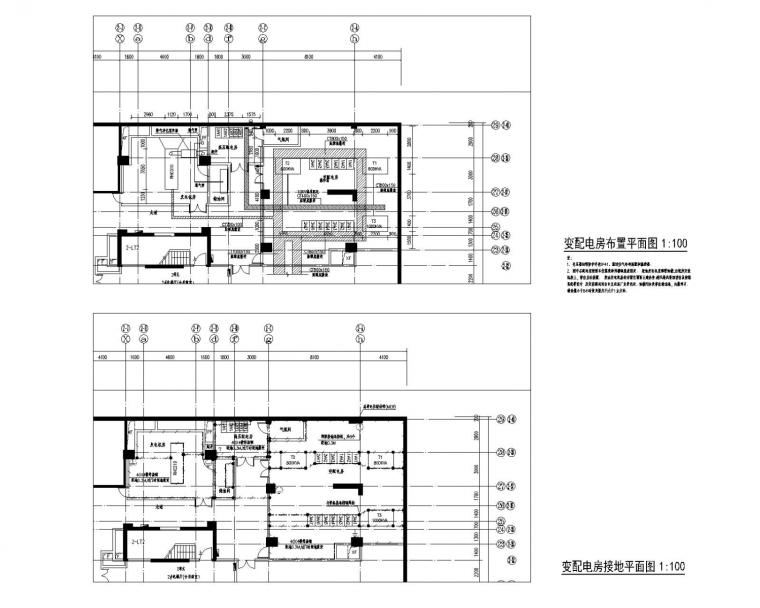 [广东]一类高层住宅楼电气施工图(含变配电室)