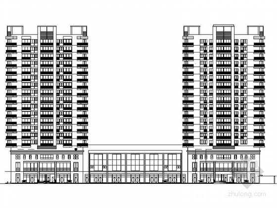 [陕西]现代风格高层住宅区设计施工图(含人防)