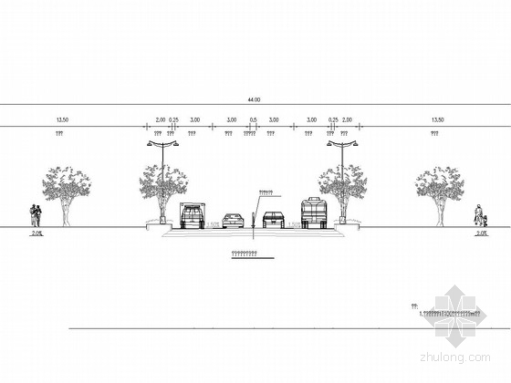 [重庆]2015年市政道路拓宽改造工程图纸75张(含工字箱型人行地道)