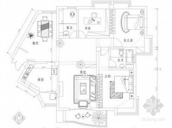某现代简约风格三居室室内装修设计方案