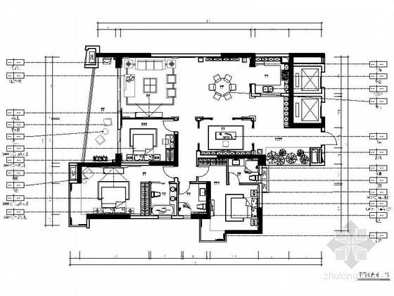 [汕头]新中式三居室样板间装修图(含效果)