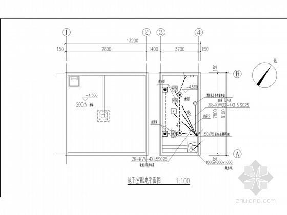 [山西]水泵房建筑结构水电完整施工图设计