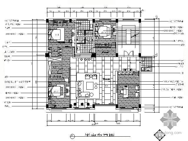 [杭州]216㎡后现代风格四居室装修图