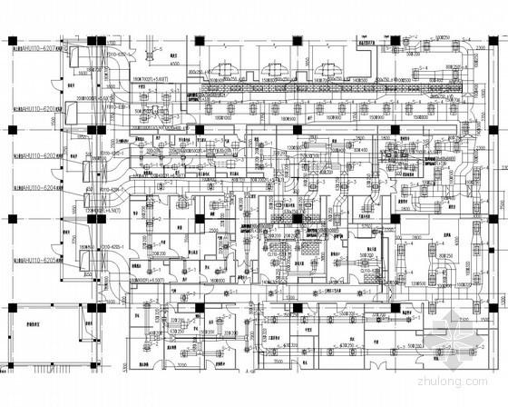 [河北]大型生产厂房暖通空调全套系统设计施工图(流程图多)
