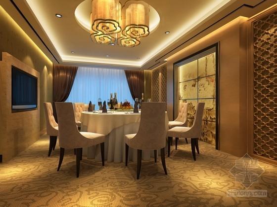 欧式风格餐厅包厢3d模型下载