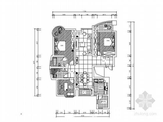 [杭州]现代三室两厅室内装修图
