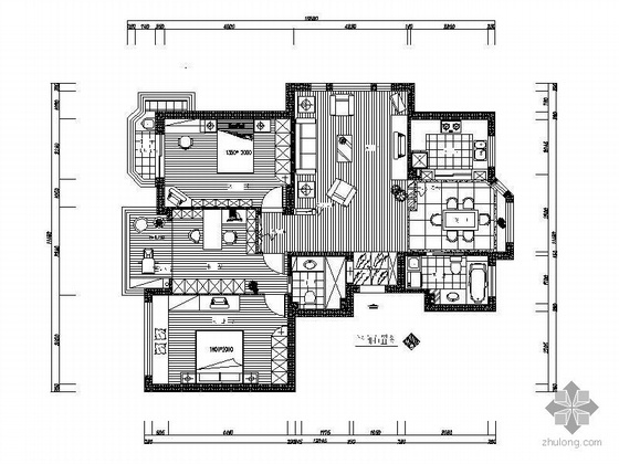 三室两厅两卫设计图