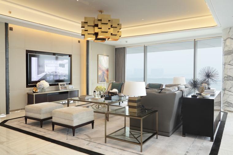[HBA香港团队]深圳湾1号-现代风格豪宅样板间室内空间设计方案文本