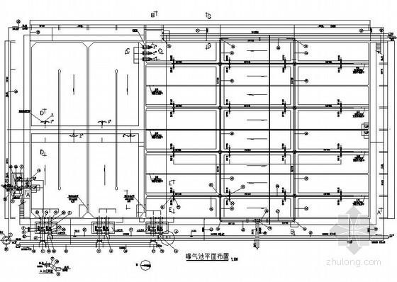 A2O工艺污水处理厂水施图纸