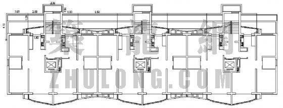 大庆市某小区楼房燃气管道设计图