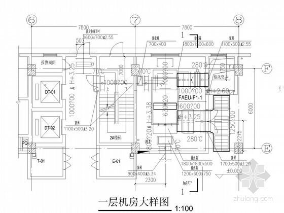 产业楼空调通风系统设计施工图(含机房大样图)