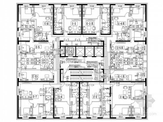 [北京]商业综合体建筑群空调采暖通系统设计施工图(人防设计 系统图多)