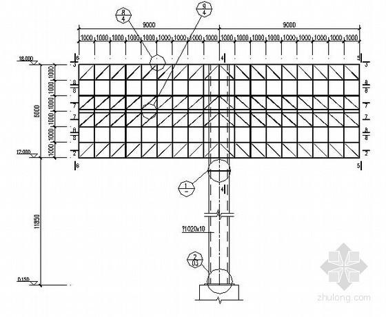 高速公路双面广告牌结构施工图