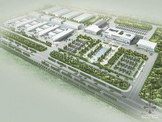[丹东港]某客运站战前广场规划及站房设计(含实景照片)