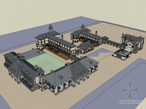 欧式建筑SketchUp模型下载