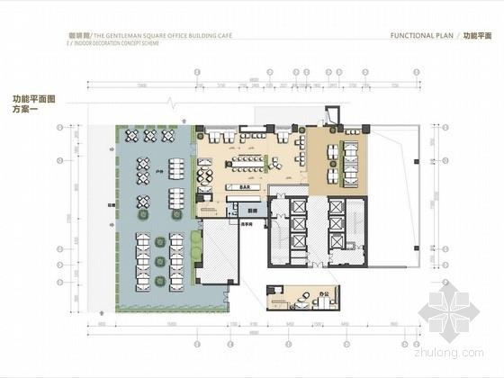 [深圳]现代风商场咖啡厅室内设计方案