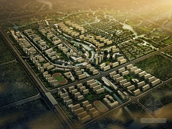 [上海]生态新城概念性规划设计方案文本(知名事务所 含CAD)