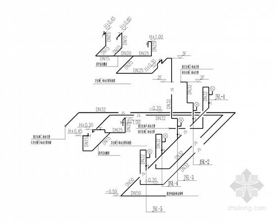 给水囹�_商业卫生间给水系统图