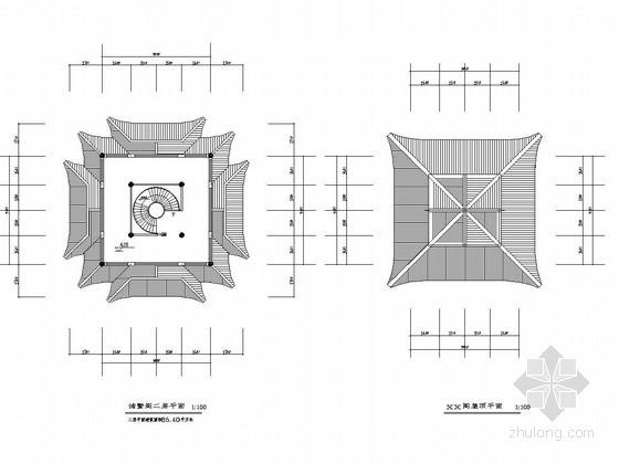 [浙江]城市广场观景阁景观设计施工图