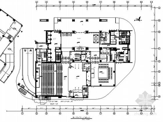 [深圳]国字号大型国有能源垄断企业甲级办公楼装修施工图(含效果图及水暖电等)