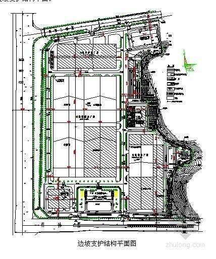 [广东]工业厂房山坡毛石挡土墙及板锚支护施工方案
