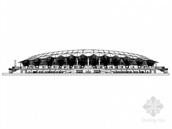 [山东]大型体育场建筑施工图(知名设计院)
