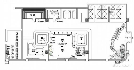 广东某宾馆桑拿设计平面