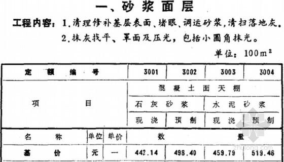1993版全国统一建筑装饰工程预算定额