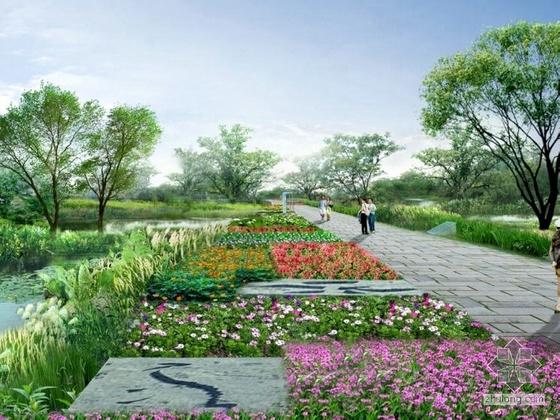 湖北居住区景观设计效果图