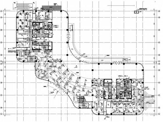 [上海]商业办公楼综合项目空调通风及防排烟系统设计施工图(大院出品)