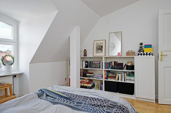 充满书香的北欧风格公寓
