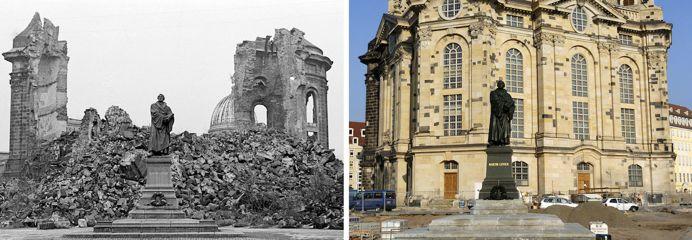 叙利亚战争后的城市建筑对比,满地废墟浓烟弥漫_19