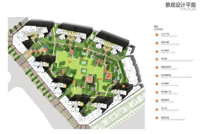 [江西]中海国际住宅区景观设计方案