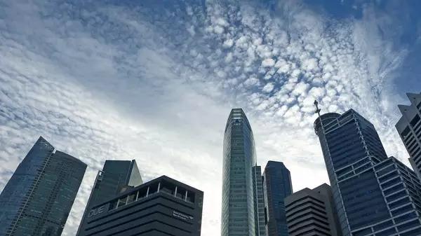 新加坡商务区的摩天楼