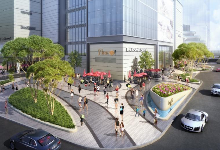 [四川]龙湖紫宸商业项目景观设计方案 A-5 销售办公楼