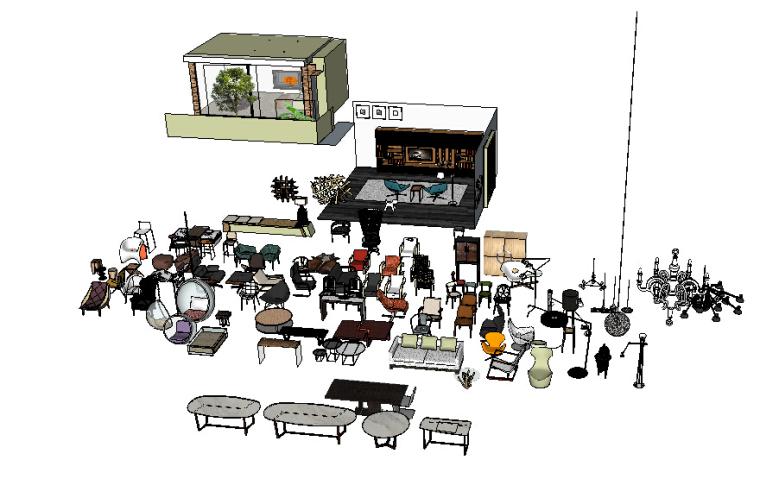 CCD方案常用家具库草图模型(1)