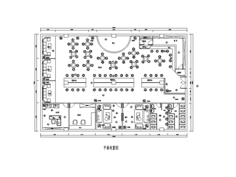 某大型酒吧室内装修设计施工图(含37张图纸)
