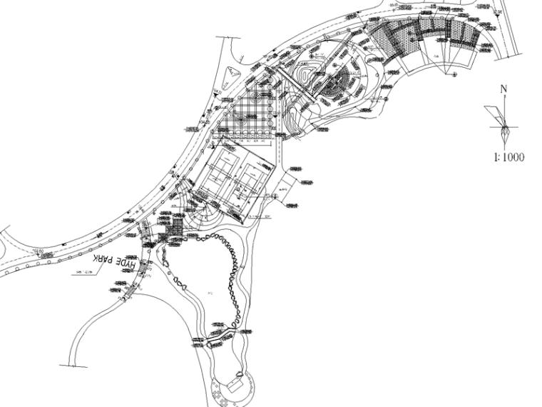 公园设计全套施工图(含:绿化布置图,停车路面做法,木栈桥)