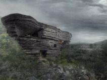 """巨石降落而成的""""山谷音乐厅"""""""