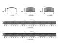钢结构温室蔬菜大棚施工图(CAD、8张)