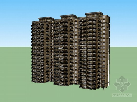 住宅楼建筑sketchup模型下载
