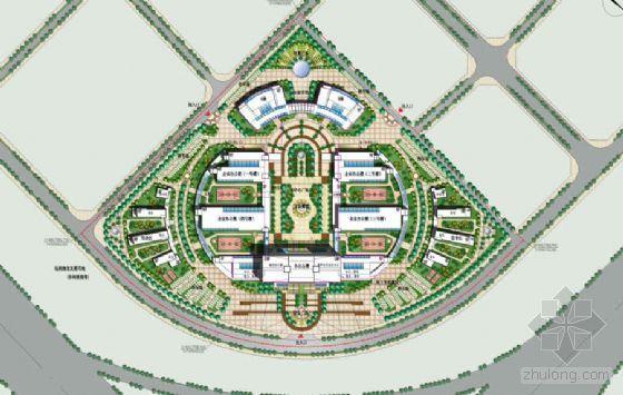 新疆乌市某大厦环境景观设计方案