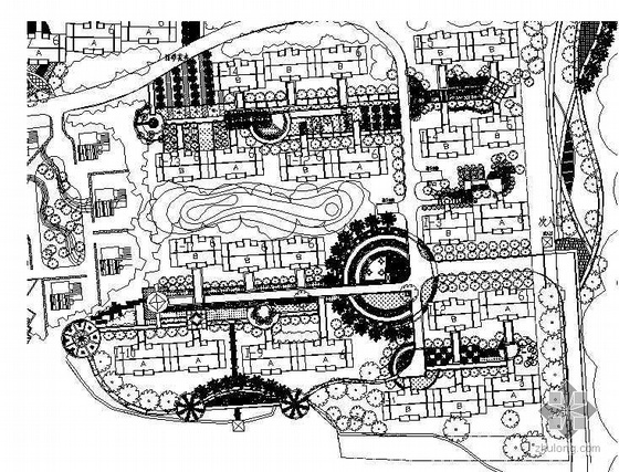 云南昆明某小区景观设计图