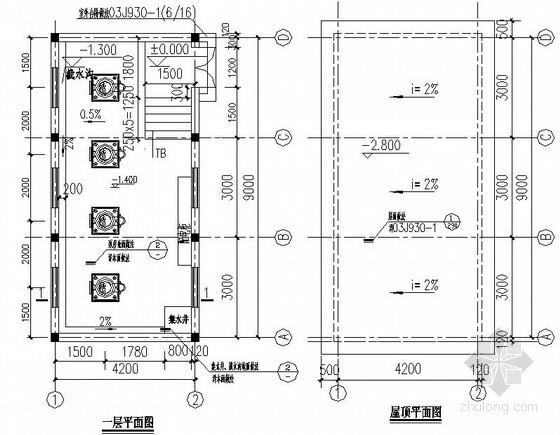 [厦门]环保家居用品公司消防水池与水泵房结构设计图