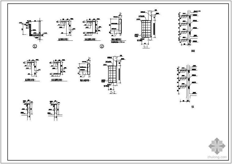 某飘窗、空调板大样结构设计图