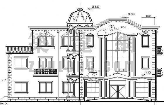 某欧式办公楼建筑设计方案