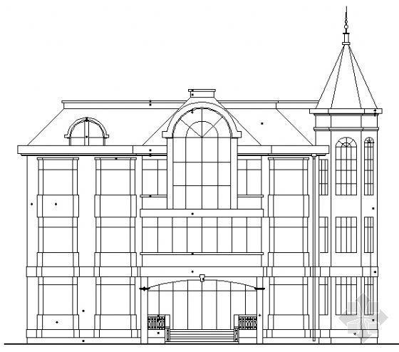 欧式宾馆建筑图