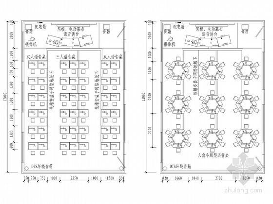 VR实验室平面图资料下载-语音实验室电气施工图纸