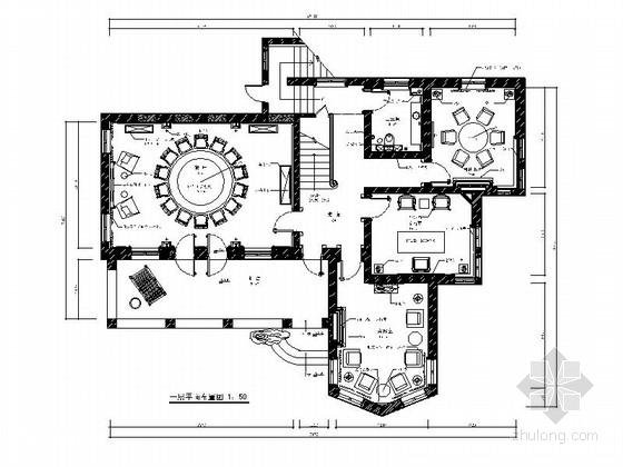[北京]豪华欧式风格两层别墅室内装修施工图(含SU细部表现)