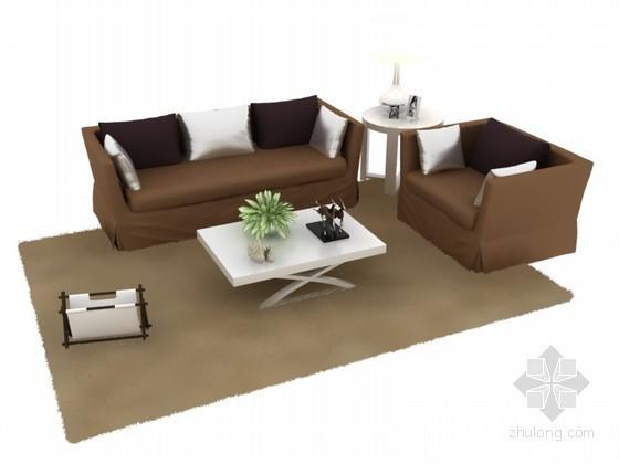 简约组合沙发3D模型下载